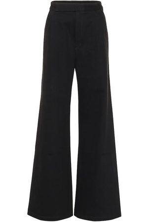 Goldsign Pantalon The Ultra Wide Leg en coton