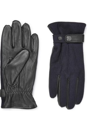 Dents Homme Gants - Flannel And Leather Gloves