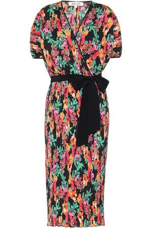Diane von Furstenberg Robe portefeuille midi Autumn imprimée
