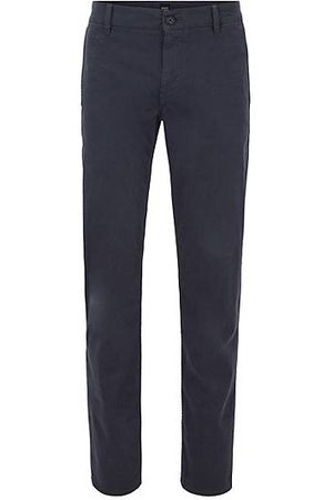 HUGO BOSS Chino casual Regular Fit en coton stretch brossé