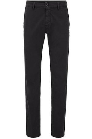 HUGO BOSS Homme Pantalons classiques - Chino casual Regular Fit en coton stretch brossé