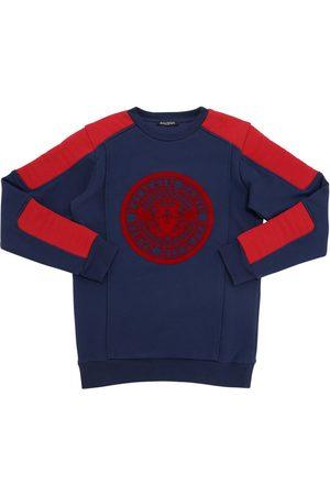 Balmain Sweat-shirt En Coton Avec Logo Floqué