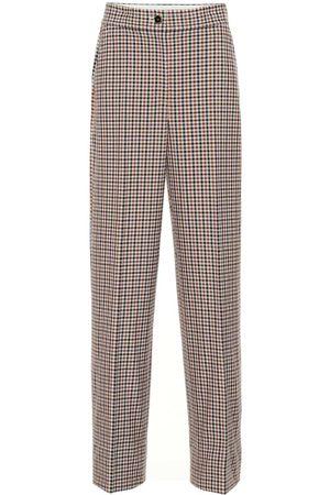Tory Burch Femme Pantalons - Pantalon à taille haute à carreaux