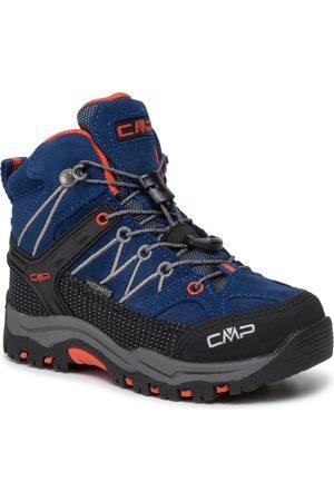 CMP Chaussures de trekking - Kids Rigel Mid Trekking Shoes Wp 3Q12944 Marine/Tango 05MD