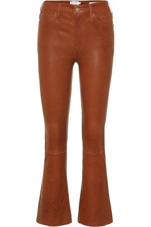 Frame Pantalon flare Le Crop Mini Boot en cuir