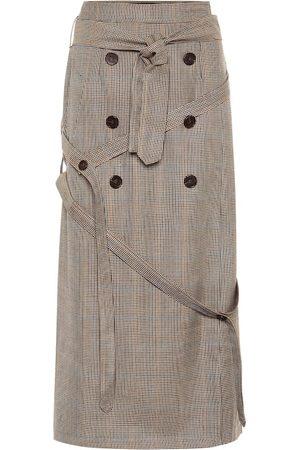 Rokh Jupe en laine à carreaux