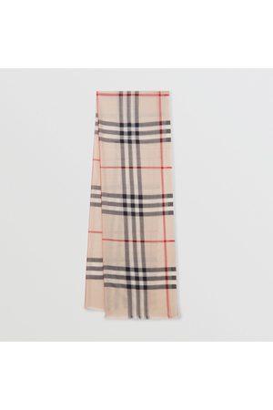 Burberry Foulard léger en laine et soie check