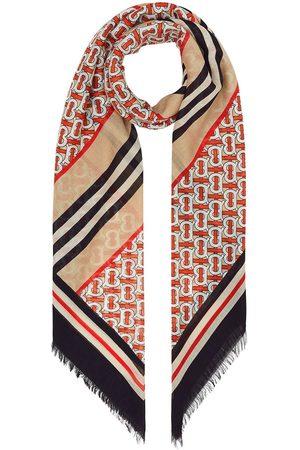 Burberry écharpe à rayures Icon et motif monogrammé