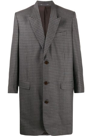 MARTINE ROSE Single-breasted check coat