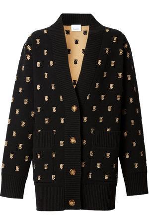 Burberry Cardigan ample à motif monogrammé