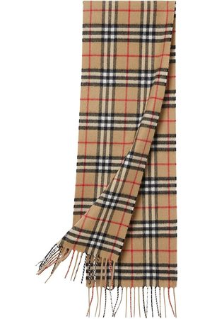 Burberry The Mini Classic Vintage Check Cashmere Scarf
