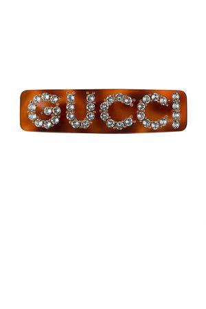 Gucci Barrette à logo en strass