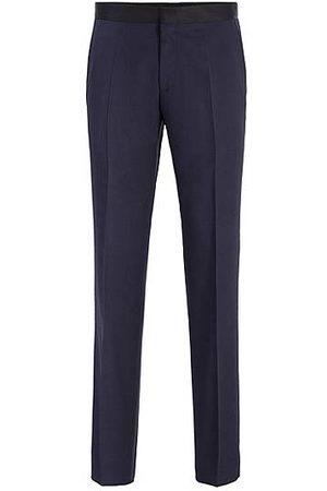 HUGO BOSS Pantalon business Slim Fit en laine vierge avec finitions en soie