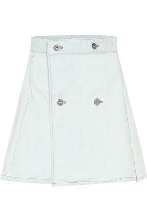 MATTHEW ADAMS DOLAN Mini-jupe portefeuille en jean