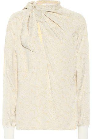 Chloé Blouse à lavallière en jacquard de soie