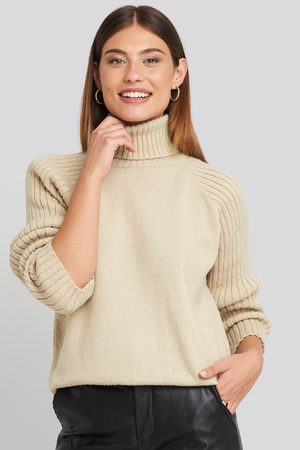 NA-KD Femme Cols roulés - High Neck Ribbed Sleeves Sweater