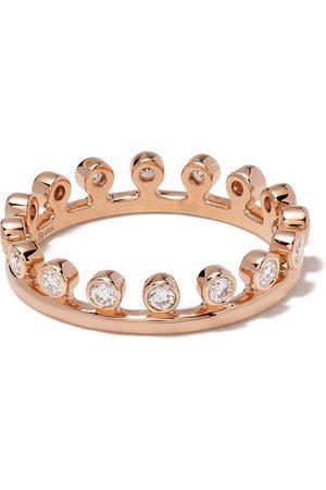 De Beers Bague Drewdrop en or rose 18ct pavée de diamants