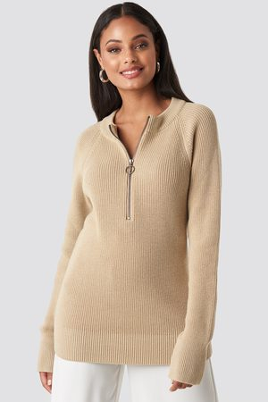 NA-KD Zipper Front Knitted Sweater