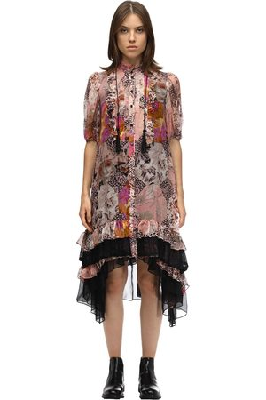 Coach Printed Silk Chiffon Midi Dress