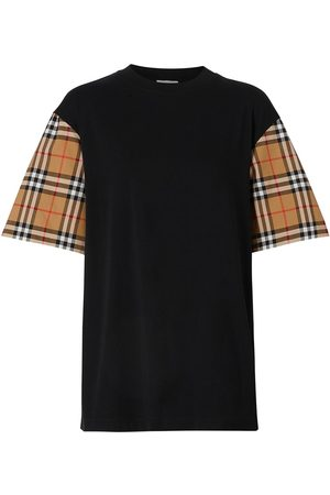 Burberry Femme T-shirts - Vintage Check sleeve oversized T-shirt