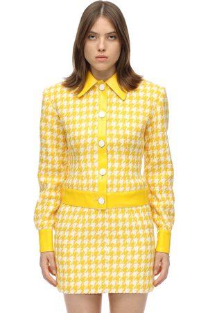 ROWEN ROSE Veste En Tweed De Coton Pied-de-poule
