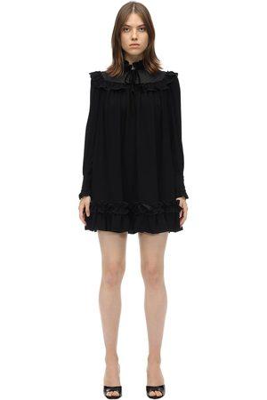 Marc Jacobs Ruffled Viscose Crepe Mini Dress