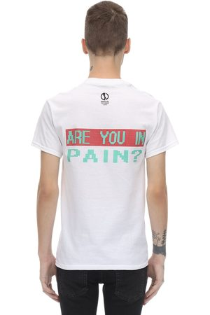 "DARKOVELI Homme T-shirts - T-shirt En Jersey De Coton ""are You In Pain?"""