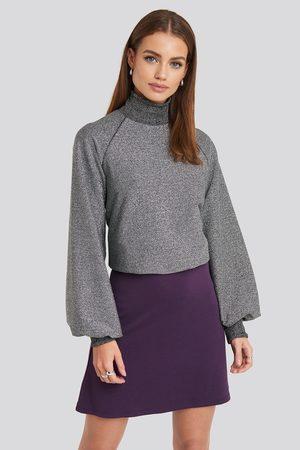 NA-KD High Waist A-Line Skirt - Purple
