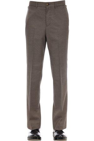 Burberry Pantalon Slim En Coton À Carreaux