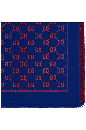 Gucci Kids Shawl with GG motif in lamé
