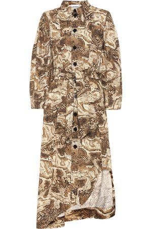 Ganni Robe chemise imprimée en coton