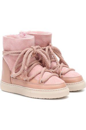 INUIKII Kids Bottines Sneaker en daim et cuir
