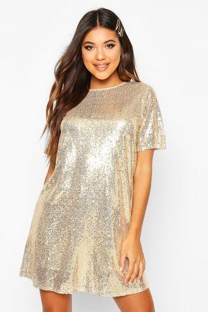 boohoo Boutique Lacey Robe T-Shirt À Sequins