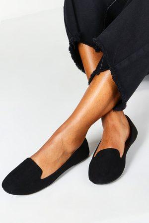 Boohoo Ballerines Chaussons Wide Fit À Languette Sur Le Dessus