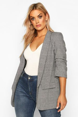 Boohoo Blazer À Carreaux Prince De Galles Plus