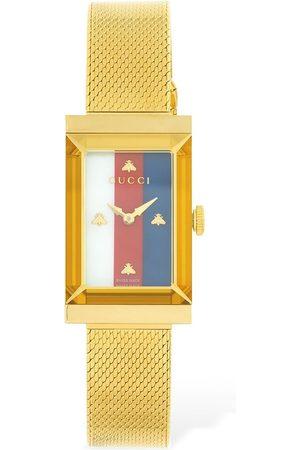 Gucci New G-frame Steel Mesh Bracelet Watch