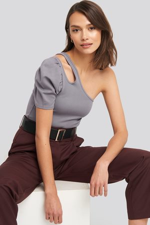 NA-KD Cut Out One Shoulder Top - Purple