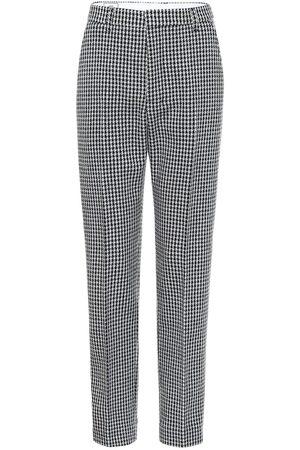 Ami Pantalon en laine mélangée à carreaux