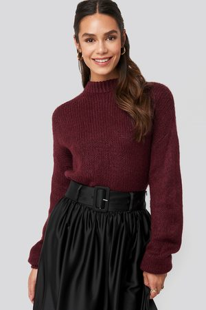 NA-KD Femme Pulls en maille - Round Neck Oversized Knitted Sweater - Red