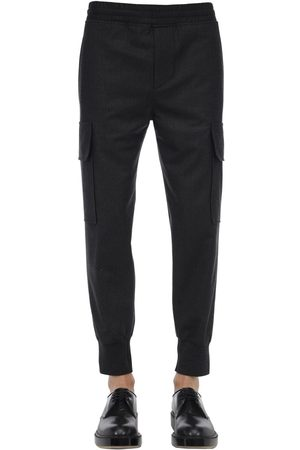Neil Barrett Pantalon Cargo En Laine Stretch
