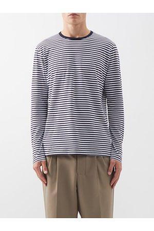 Sunspel Manches longues - Marinière manches longues en jersey de coton