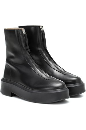 The Row Bottines Zipped 1 en cuir