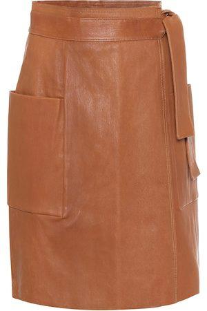 Stouls Jupe portefeuille en cuir
