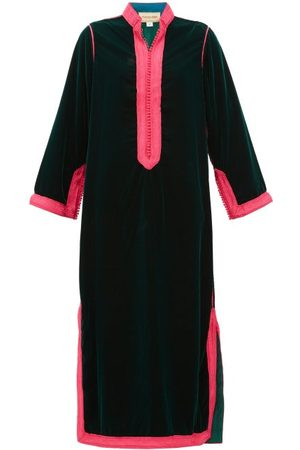 Muzungu Sisters Robe tunique en velours à détails tissés Alia