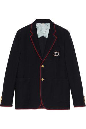 Gucci Veste palma en coton et laine avec empiècement