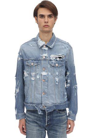 Vetements Homme Vestes en jean - Veste En Denim De Coton Usé