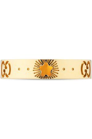 Gucci Montres - Bague Icon en or jaune avec étoiles
