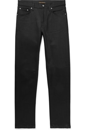 Nudie Homme Slim - Steady Eddie Ii Slim-fit Tapered Organic Stretch-denim Jeans