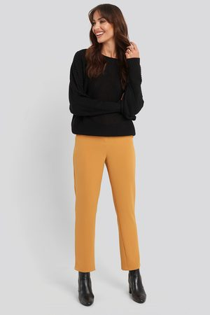 NA-KD Classic High Waist Suit Trousers - Yellow