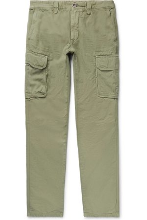 Incotex Homme Cargos - Slim-fit Cotton And Linen-blend Cargo Trousers